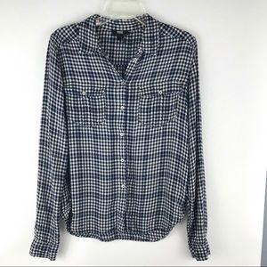 PAIGE button up plaid shirt